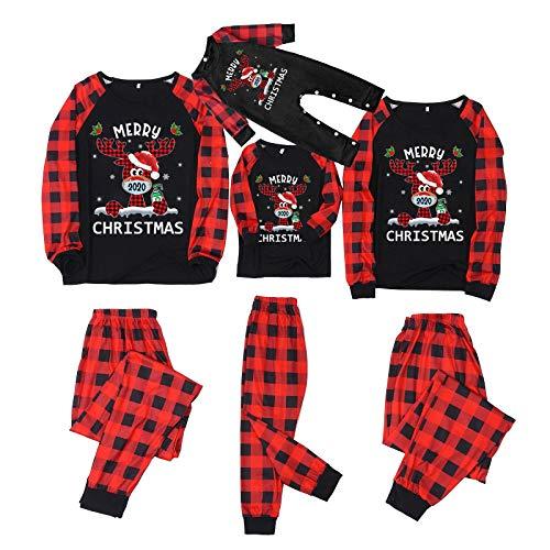 Weihnachten Schlafanzug Familie Bekleidungssets, Familie Outfit Set Matching Lange...