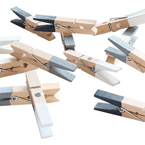LeTOMA - 6 farbenfrohe Magnetklammern Handmade in Germany in den Farben Grau, Weiß, Schwarz - Magnetclips ideal für Kühlschrank, Whiteboard, Magnettafel, Pinwand, Magnetwand