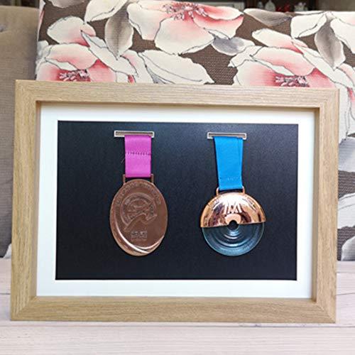 XXCC Marco de Fotos Original Tipo Caja,de Madera con Cristal y Paspartú,Cuadro Profundo para Meter Objetos de colección: Objeto 3D,Pinzas con Fotos,Flores,medallas,etc.
