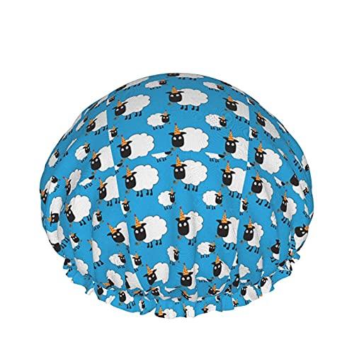 Gorro de ducha impermeable para fiesta y soplador, unisex, reutilizables con banda elástica, pelo largo, protección del medio ambiente