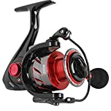 Sougayilang Fishing Reel Ultra Smooth Powerful,13+1BB Spinning Reel,Lightweight Graphite Frame, CNC Aluminum Spool for Freshwater(red 1000)