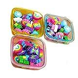 Onsinic, 22 gomme per cancellare multicolori, con motivi carini, per la scuola, regalo per bambini, colore casuale (dimensione quadrata)