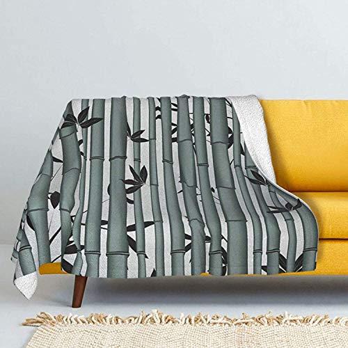 Coperta in lana d'agnello, coperta in pelliccia di volpe argentata, ultra morbida, per divano letto