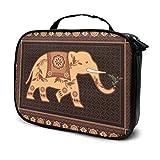Decorado Elefante hindú Indio en Alto Detalle Bolsas de Maquillaje de Viaje Bolsa de Aseo para niñas Bolsa de Aseo pequeña para Hombres Bolsa Impresa multifunción para Mujeres