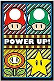 Pyramid America Super Mario Power Up Nintendo Video Game Gaming Fantasy Trippy Flocked UV Black Light Blacklight Poster 23x35 Inch