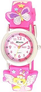 Ravel Time Teacher 3D Fairy Design Pink Strap Watch + Telling Time Award 1513.76