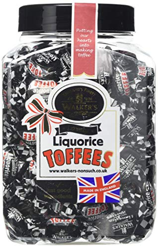 Walkers Nonsuch Real Liquorice Toffees 1,25kg Dose (Echte Lakritze Toffee Bonbons)
