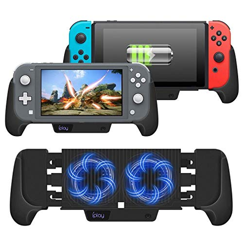 FASTSNAIL Charging Grip for Nintendo Switch/Switch Lite, Multifunctional Charging Grip Case Stand with 2 Cooling Fans Cooler for Switch/Switch Lite (Black)