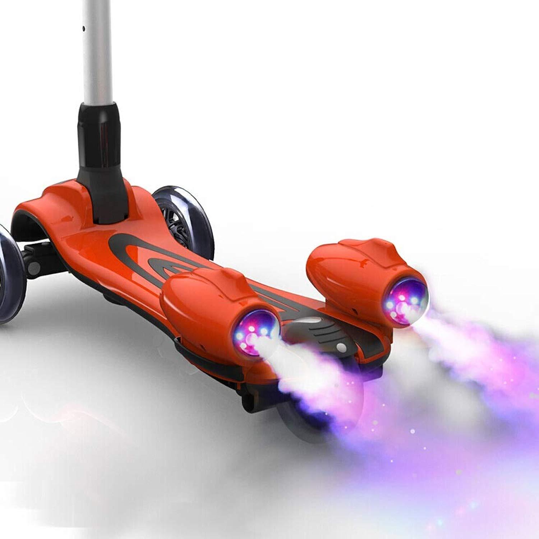 Canna da pesca S tavola Three ruedas Kick S tavola con uomoubrio Ste Water Sp  Flash Light Sport giocattolo Bambino Scooter Elettrico 07.01 (Coloree   rosso+Dynamic Music+Dynamic Sp )
