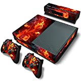 DAPANZ Fire Flower Vinyl Skin Sticker Decal Wrap Cover for Xbox One Console Kinect 2 Controllers