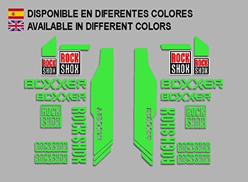 Ecoshirt V1-Y5PL-3DHF Stickers Rock Shox Boxxer F174 Vinyle Adhésifs Decal Aufkleber Vert