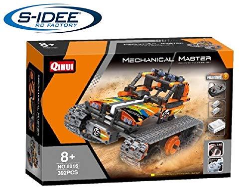 s-idee® 8016 RC Bausteinfahrzeug Stuntauto mit Fernsteuerung Technic Crawler RC Buggy Tracked Racer