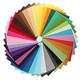 TFENG Bastelfilz 42 Farben Filzstoff, Bunt Kinder DIY