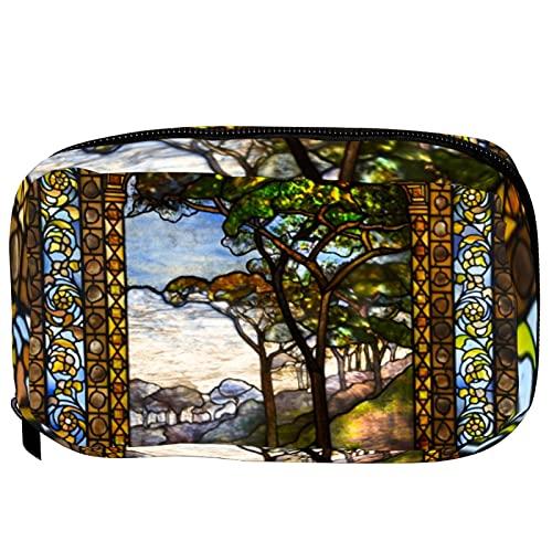 Pequeño bolso cosmético para el bolso, bolsa de maquillaje bolsa cosmética bolsa de belleza bolsa de viaje aseo aseo bolsa de lápiz monedero cremallera bolsa, cabeza de cabra de baphomet