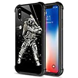 iPhone XR Case,Space Baseball iPhone XR Cases for Men Boys,9H Tempered Glass Graphic Design Shockproof Anti-Scratch Tempered Glass Case for Apple iPhone XR