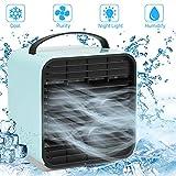 Sylanda Mini Persönliche Klimaanlage, USB Klimaanlage Mobiles Klimagerät 4 in1 Luftkühler, Ventilator, Luftbefeuchter, Lufterfrischer Mit Wasserkühlung, 3 Geschwindigkeiten für zuhause, draußen