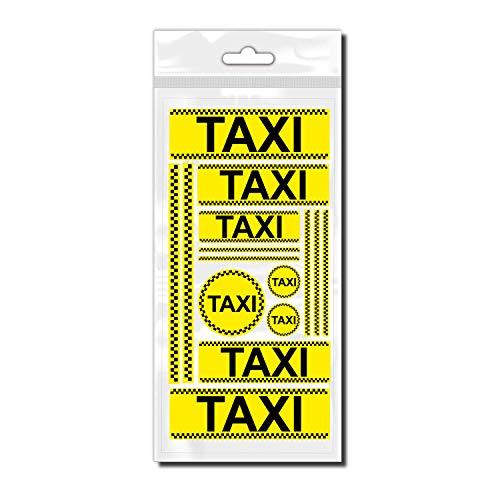 style4Bike Taxi individuelle Taxi als Dekorationssticker Set für Fahrrad ✓ Coole Aufkleber ✓ | D00045