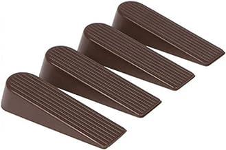 Dingyue 4 Pack Deur Stopper Draagbare Flexibele Klassieke Rubber Deur Stops voor Alle Vloer Types Tapijt
