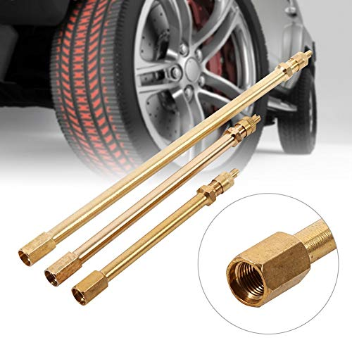 Felix-Box - TPMS Tire Valve Stem Brass Metal Tire Valve Extension Straight Bore For Truck Motorcycle Car 100mm/ 140mm/200mm