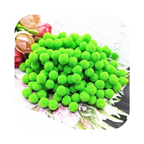 happy-Boutique Pompom 8 mm 10 mm 15 mm 20 mm 25 mm 30 mm Soft Plush Craft DIY Ball Decoration at Home Sewing -08 Fruit Green - 20 mm 65 Pieces 20 g