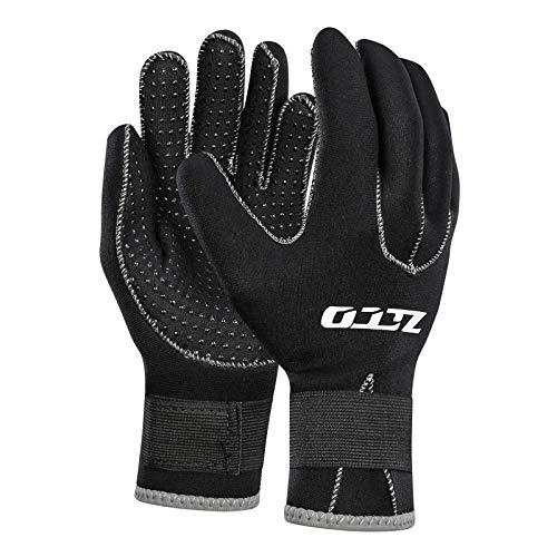 3mm Neopren-Neoprenanzughandschuhe Thermohandschuhe Männer Herren Anti-Rutsch-Handschuhe für Frauen Schwarz(3mm,L)