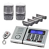 Olympia Premium Plus inalámbrico los sistemas de alarma-Set 6061 con 2 detectores, Socorro y manos libres integrado de marcación telefónica