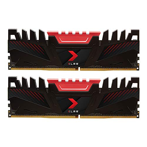 PNY Kit de Modules Mémoire RAM pour Ordinateur de Bureau XLR8 Gaming DDR4 3200 MHz 16GB (2x8GB)
