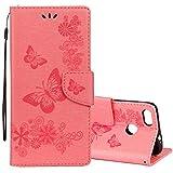 ZAORUN Couvre-cas protection de téléphone portable Huawei P9 Lite Mini Vintage en relief floral...
