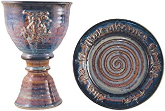 chalice and paten set pottery