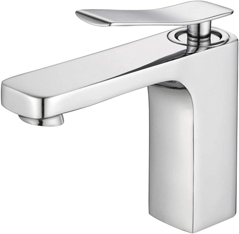 Yxx max Bathroom Basin Mixer Counter Basin Square High-grade Faucet Hot And Cold Water Tap