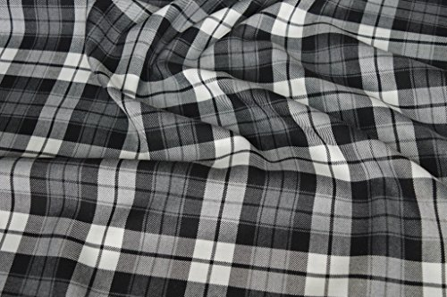 Fabrics de City gris/blanco original schotten cuadros plástico Tartan policíclicos, 4246