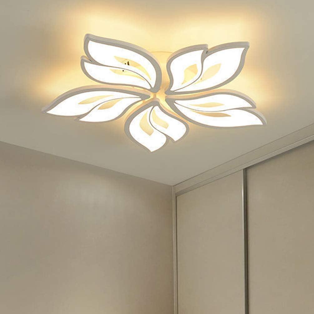 LED Deckenleuchte Dimmbar Wohnzimmer Flur Blume Design Deko Kinder Schlafzimmer Decke H/ängend Lampe Fernbedienung 3-flammig /Ø60*H6cm Acryl-schirm Modern Kronleuchter f/ür Bad Diele Esszimmer