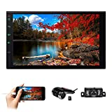 EinCar Touch Screen Car Stereo Double Din Radio Car Radio with Bluetooth GPS Navigation Android 10 System 1GB+16GB 7 inch HD Touch Screen USB/TF FM Radio Rear View Camera Input with Rear Camera+DVR