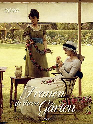 Frauen in ihren Gärten 2020: Großer Kunstkalender. Wandkalender mit Gärtnerinnen im Impressionismus. Format: 48x64 cm