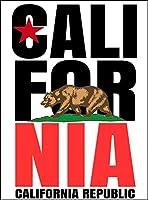 【カリフォルニア・リパブリック】 ポストカード・はがき(白背景)