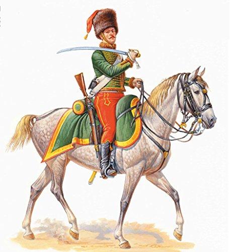 Masterbox Figurina- French Hussar, Napoleonic Wars Series Scala 1:32 - MAS3208