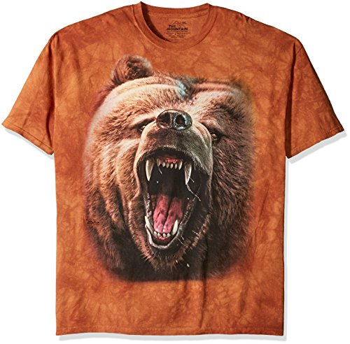 The Mountain Men's Grizzly Growl T-Shirt, Brown, XL