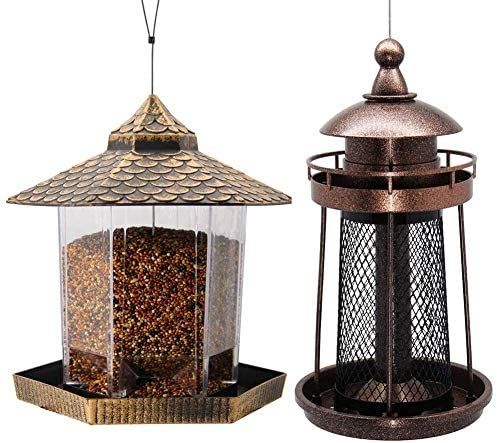 Twinkle Star Wild Bird Feeder Hanging for Garden Yard Outside Decoration Lighthouse Shaped Bird product image