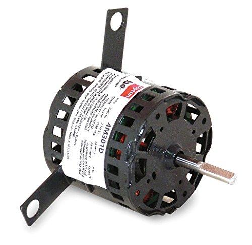 Dayton 4M301 HVAC Motor, Shaded Pole, 1550 Nameplate RPM 115V, Frame 3.3, 1/15 hp