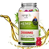 Best Hemp Gummies - 2000mg - 30 ct.- Organic Hemp Infused - 100% Natural Chewy Supplements for Pain, Anxiety, Stress & Inflammation Relief - Promotes Sleep & Calms Mood