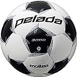 モルテン(molten) サッカーボール 5号球 中学生以上 検定球 ペレーダ3000 F5L3000 ホワイト×メタリックブラック F5L3000