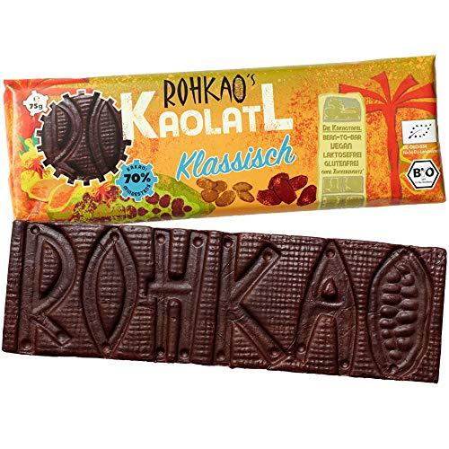 VEGANE BIO Trockenfrucht Kakaotafel 70% Klassisch 1x 75g Tafel CO2 Neutral - handgemacht