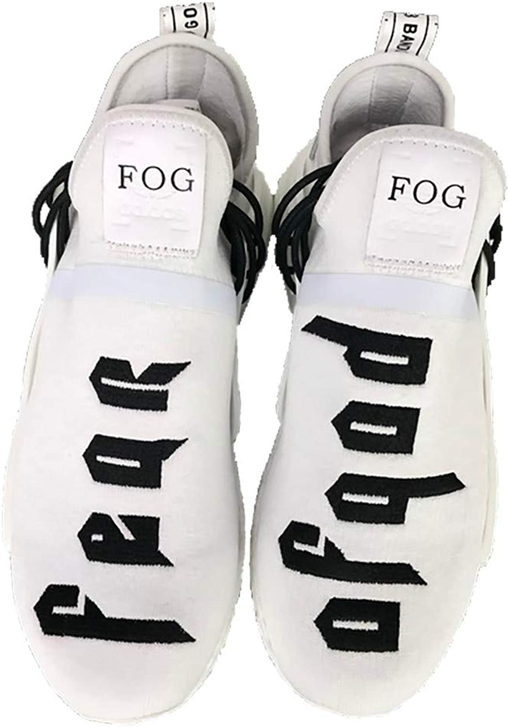 Human Race Sneaker Real Boost Casual Breathable Lightweight Mesh shoes Fear of God-White Women US 7.5