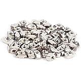 50Pcs T-Groove Female Nut Silver Carbon Steel Zinc Plated M5 European Standard Aluminum Pr...