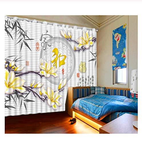 WKJHDFGB Cortinas Habitacion,Cortinas 3D Decoración del Hogar Cortinas Opacas Sala De Estar Dormitorio U Hotel Cortinas Familia Feliz Cortinas 215X200Cm