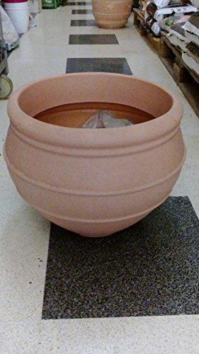 MONDONATURA SRL Vase résine 45 cm, similaire à la terre cuite, couleur cuite, produit italien.