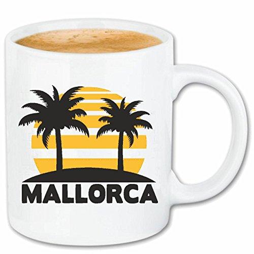 Reifen-Markt Kaffeetasse Mallorca - Espana - SPANIER - SPANIERIN - SPANISCH Keramik 330 ml in Weiß