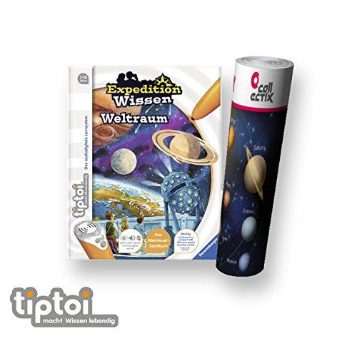 Ravensburger tiptoi  Buch ab 7 Jahre Expedition Wissen: Weltraum + Kinder Planeten Weltall Poster by Collectix tip toi