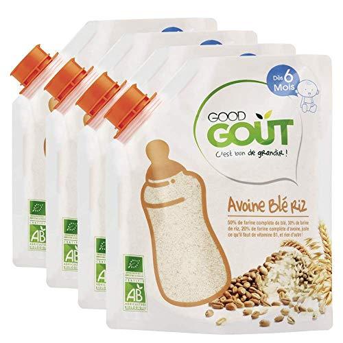 Good Goût - BIO - Céréales Avoine blé riz 200g Dès 6 Mois - Pack de 4