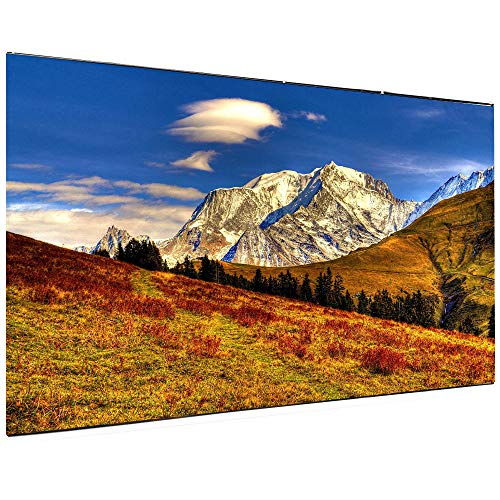 Coolux 120 inch Projector Screen, 16:9 HD Indoor and Outdoor 4k Portable Foldable Projection Movie Screen for Home Theater and Public Presentation